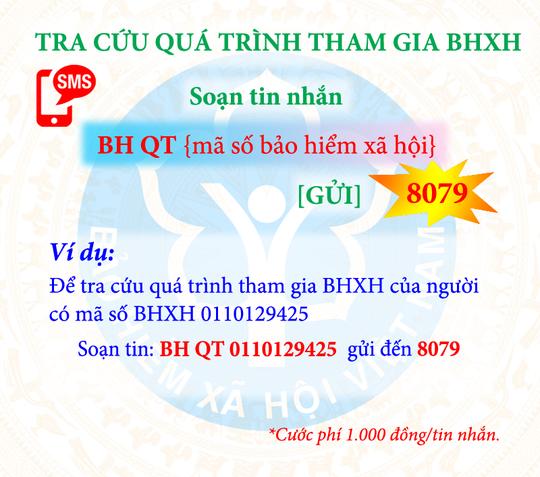 Tra cứu đóng, hưởng BHXH, BHYT bằng tin nhắn điện thoại - Ảnh 1.