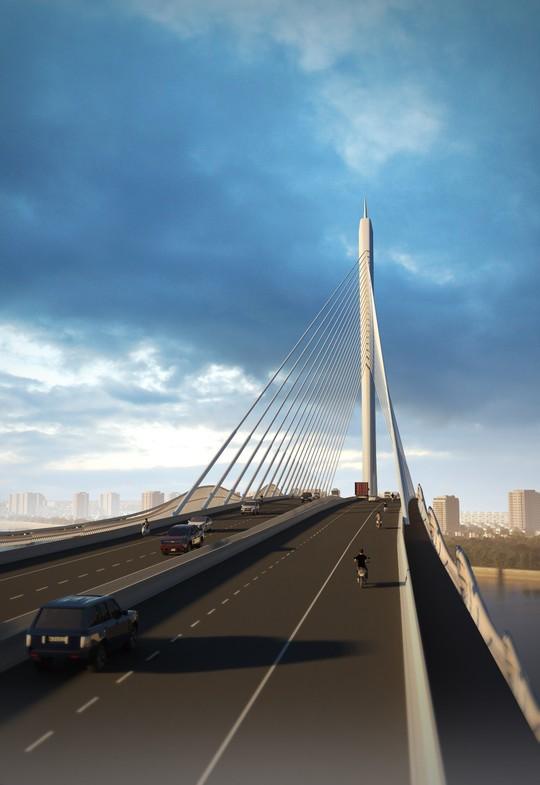 Cầu Cần Giờ sẽ được thiết kế dạng dây văng 1 trụ, hình cây Đước - Ảnh 2.