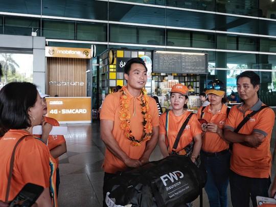 Phan Thanh Nhiên chinh phục thành công 42 km tại đường chạy băng giá - Ảnh 1.
