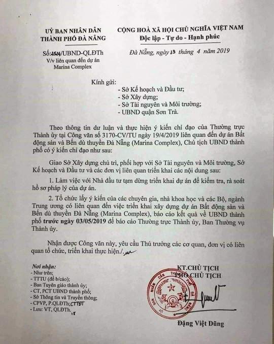 Đà Nẵng yêu cầu tạm dừng triển khai dự án lấn sông Hàn - Ảnh 1.