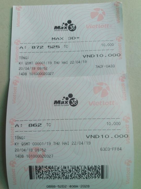 Bắt đầu bán vé số Max3D và  Max3D+, trúng giải nhất tối thiểu 1 tỉ đồng