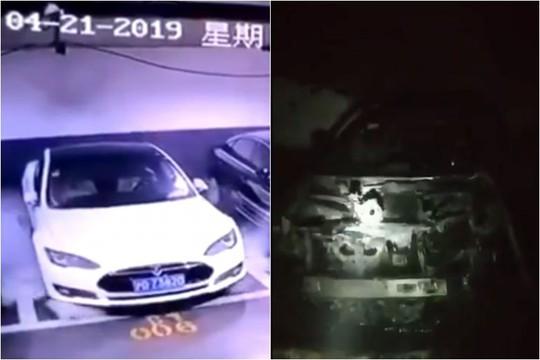 Siêu xe Tesla Model S đang đậu bỗng nổ tung ở Trung Quốc - Ảnh 1.