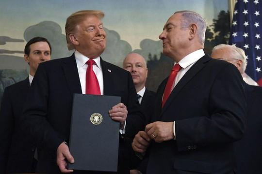 Israel tính đặt tên ông Trump cho vùng đất ở Cao nguyên Golan - Ảnh 1.