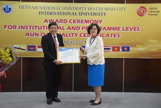 Trường ĐH Quốc tế đạt chuẩn đánh giá chất lượng AUN cấp cơ sở - Ảnh 1.
