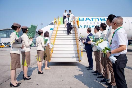 Bamboo Airways đón chuyến bay quốc tế đầu tiên từ Hàn Quốc - Ảnh 3.