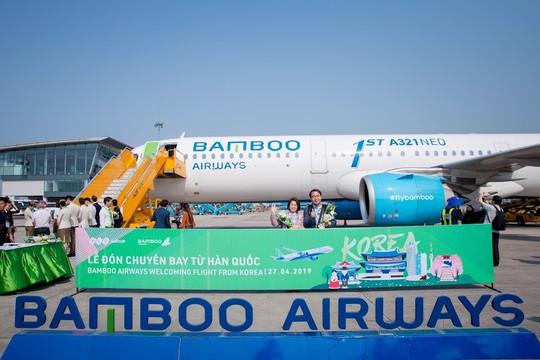 Bamboo Airways đón chuyến bay quốc tế đầu tiên từ Hàn Quốc - Ảnh 5.