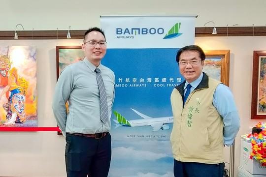Chào đón những chuyến bay đầu tiên của Bamboo Airways đến Đài Loan - Ảnh 1.