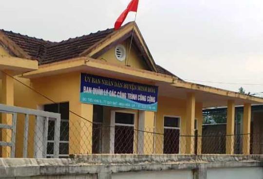 Trụ sở Ban quản lý các công trình công cộng huyện Minh Hóa