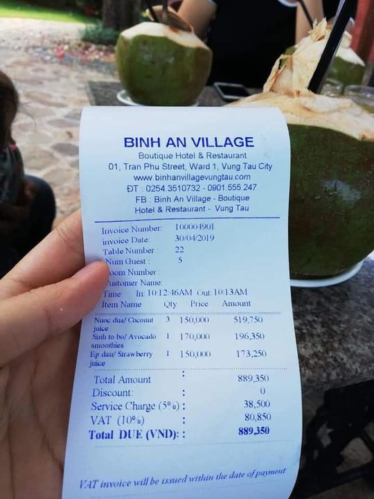 Sự thật resort Bình An ở Vũng Tàu bị tố chém 150.000 đồng/trái dừa - Ảnh 1.