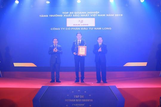 Nam Long được vinh danh top 50 doanh nghiệp tăng trưởng xuất sắc năm 2019 - Ảnh 1.