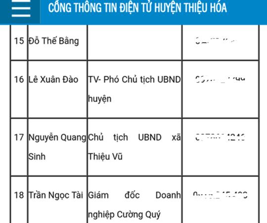 Giam doc dua hoi lo cho 5 can bo Thanh tra tinh Thanh Hoa la dai bieu HDND huyen