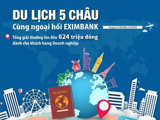 Vòng quanh năm châu cùng Eximbank - Ảnh 1.