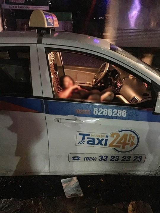 Nu tai xe taxi bi nguoi dan ong dam guc tren ghe lai