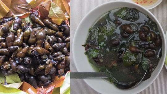 Hương vị quê hương: Rau ranh nấu canh ốc đá - Ảnh 1.