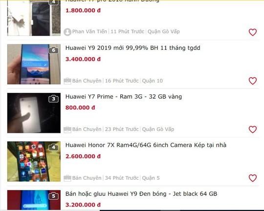 Điện thoại Huawei bị dìm giá trên thị trường - Ảnh 1.