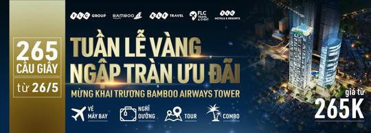 Khai trương Bamboo Airways Tower, FLC Hotels & Resorts tung mưa voucher - Ảnh 1.