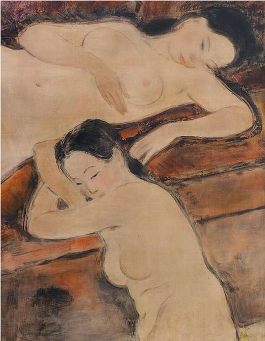 Cận cảnh bức tranh khỏa thân giá triệu USD của họa sĩ Lê Phổ - Ảnh 3.