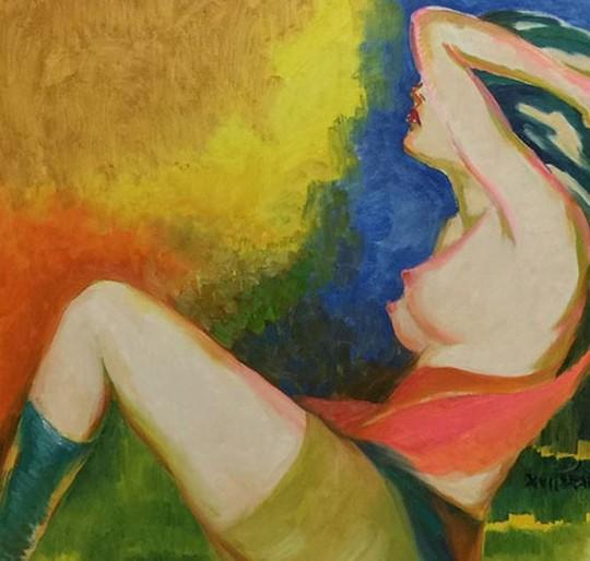 Cận cảnh bức tranh khỏa thân giá triệu USD của họa sĩ Lê Phổ - Ảnh 11.