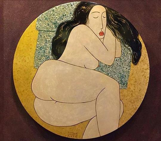 Cận cảnh bức tranh khỏa thân giá triệu USD của họa sĩ Lê Phổ - Ảnh 8.