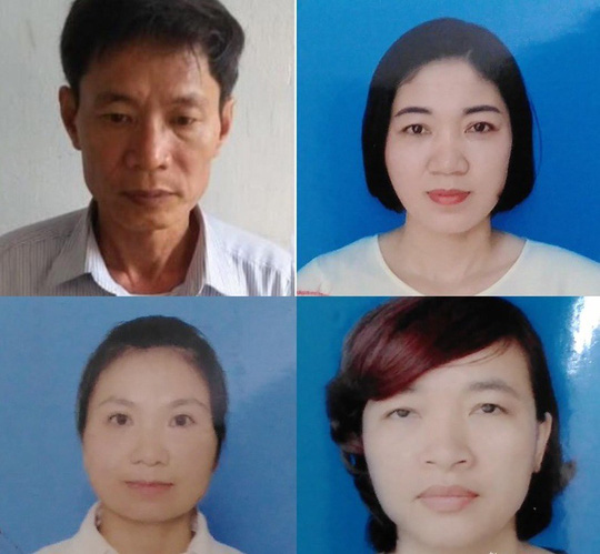 Nguyen truong Ban quan ly rung phong ho va 3 nu thuoc cap bi khoi to