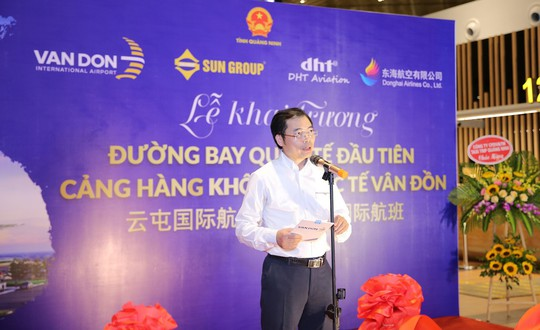 Khai trương đường bay Vân Đồn - Thâm Quyến, sân bay Vân Đồn hiện thực hóa mục tiêu thị trường quốc tế - Ảnh 2.