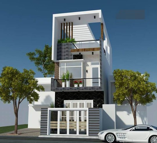 10 mẫu nhà phố 6x10m đẹp xiêu lòng - Ảnh 2.