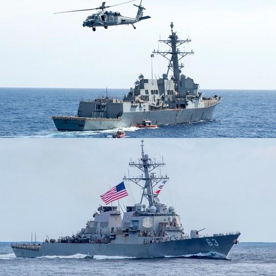 Tàu chiến Mỹ qua eo biển Đài Loan nhiều hơn dưới thời ông Obama? - Ảnh 1.