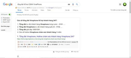 Cảnh báo giả mạo tổng đài VinaPhone lừa tiền người dùng - Ảnh 1.