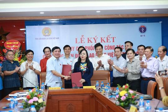 Tổng LĐLĐ Việt Nam phối hợp cùng Bộ Y tế chăm sóc sức khỏe người lao động - Ảnh 1.