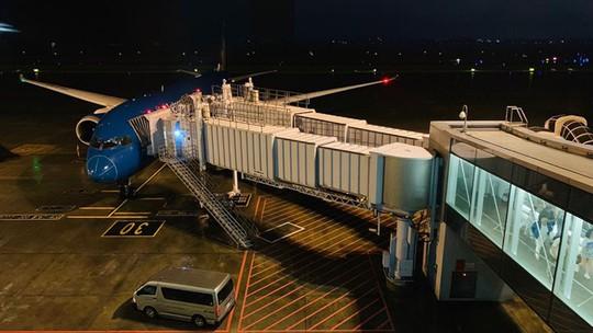 Chuyến bay VN37 khai thác bằng tàu bay Boeing 787 - Ảnh: hành khách cung cấp cho vov
