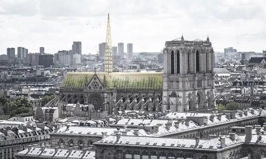10 ý tưởng tái thiết kế Nhà thờ Đức Bà Paris - Ảnh 1.