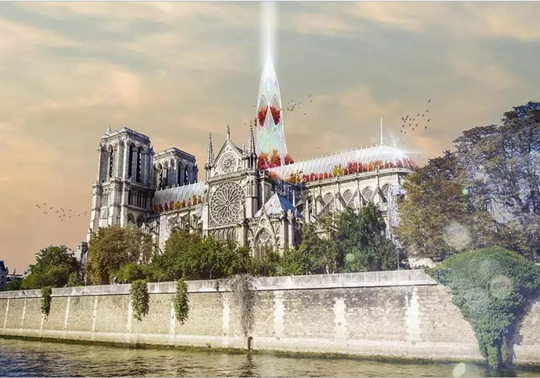 10 ý tưởng tái thiết kế Nhà thờ Đức Bà Paris - Ảnh 2.