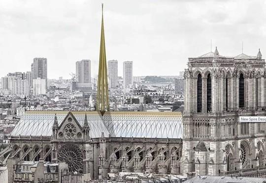 10 ý tưởng tái thiết kế Nhà thờ Đức Bà Paris - Ảnh 4.