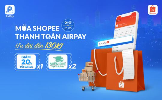 Ví điện tử AirPay chính thức có mặt trên Shopee - Ảnh 1.