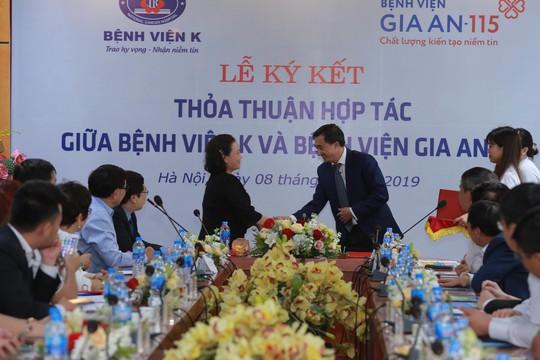 Lễ ký kết thỏa thuận hợp tác giữa bệnh viện Gia An 115 và bệnh viện K - Ảnh 3.