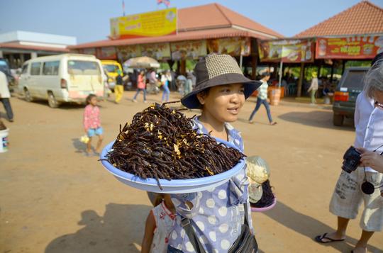 Nhện độc chiên và 4 món khiến bạn rùng mình ở Campuchia - Ảnh 1.