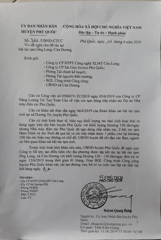 Phú Quốc: Rác quá tải, huyện đề nghị cho đổ ở bãi rác tạm - Ảnh 1.