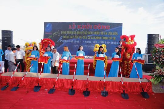 Công ty Trường Phúc Hải khởi công giai đoạn II bờ kè thuộc dự án lấn biển Phan Thiết - Ảnh 2.