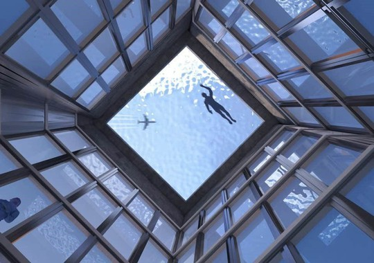 Bể bơi vô cực 360 độ đầu tiên trên thế giới sắp ra mắt - Ảnh 2.
