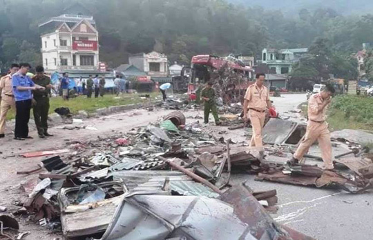 Không có dữ liệu tốc độ xe tải chở sắt trong vụ tai nạn kinh hoàng 3 người chết, 38 người bị thương - ảnh 1