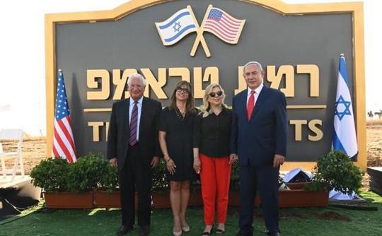 Ông Trump phấn khích vì thị trấn mới ở Cao nguyên Golan mang tên ông - ảnh 1
