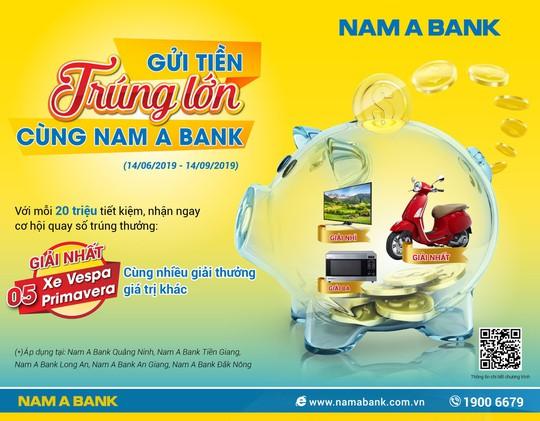 Gửi tiền Nam A Bank, trúng xe Vespa sành điệu - Ảnh 1.