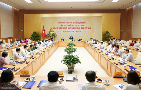 Thủ tướng Nguyễn Xuân Phúc: Chính phủ sẽ tạo cơ chế để báo chí phát triển - ảnh 3