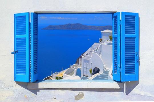 Hòn đảo hút khách bởi kiến trúc xanh - trắng ở Hy Lạp - Ảnh 4.