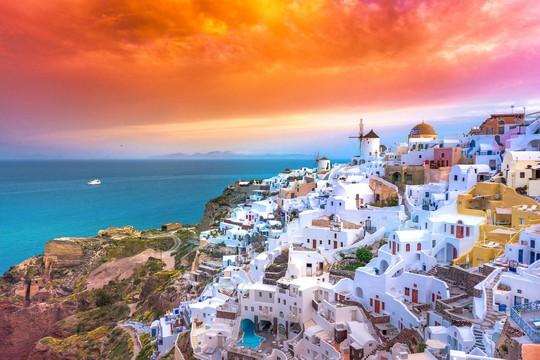 Hòn đảo hút khách bởi kiến trúc xanh - trắng ở Hy Lạp - Ảnh 7.
