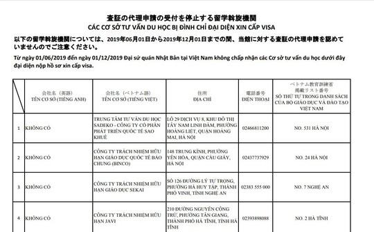 Nhật Bản chặn đơn visa của 11 cơ sở tư vấn du học ở Việt Nam - Ảnh 1.