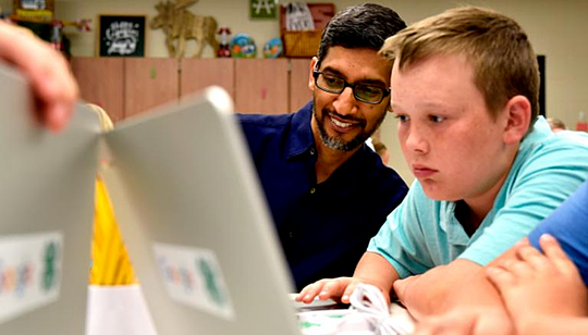 CEO Google lớn lên không có máy tính - Ảnh 2.