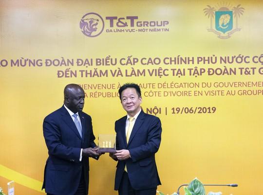 Bộ trưởng Ngoại giao Cộng hòa Bờ Biển Ngà đến thăm và làm việc tại T&T Group - Ảnh 3.