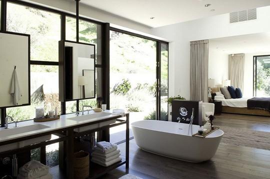 Chỉ nhờ mẹo thiết kế này mà phòng tắm luôn khiến người dùng thoải mái - Ảnh 3.