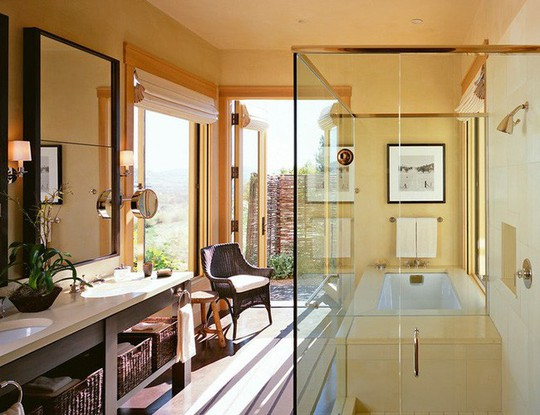Chỉ nhờ mẹo thiết kế này mà phòng tắm luôn khiến người dùng thoải mái - Ảnh 5.